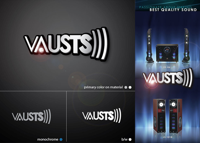 VAUSTS AUDIO SYSTEM LOGO PROMOTIONAL ITEM